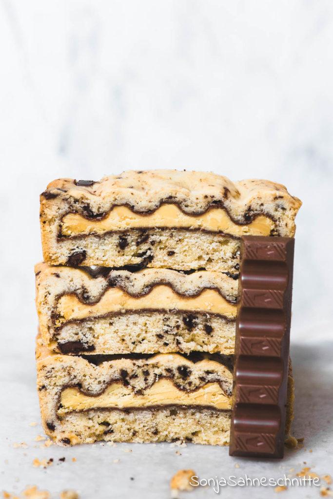 2019-02-19 vegane Walnusscookies und Rezept für Kinderriegel Cookiebars alla Pick-Up backen mit Kinderschokolade_2.jpg