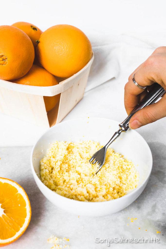 2 Zutaten Geschen aus der Küche: ORangenzucker einfach und schnell gemacht und mit vielen Anwendungsmöglichkeiten